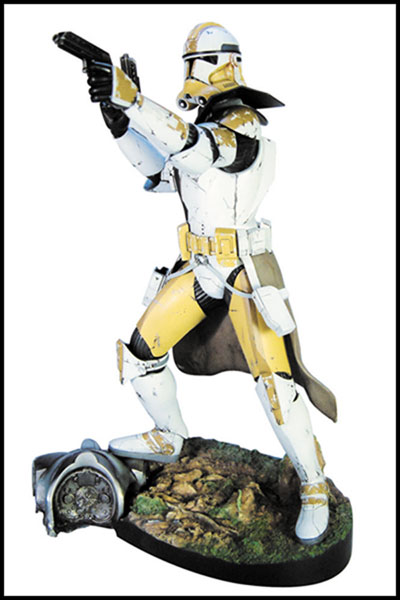 Image: Kotobukiya Star Wars Commander Bly Vinyl Model Kit  - Dark Horse Comics