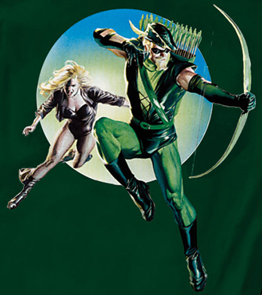 Image: Justice: Green Arrow & Black Canary by Ross T-Shirt  (XL) -