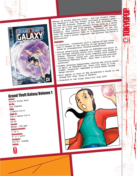 Image: Grand Theft Galaxy Vol. 01 SC  - Tokyopop