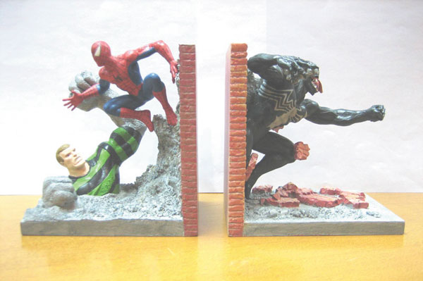 Image: Spider-Man Resin Bookends  - Marvel Comics