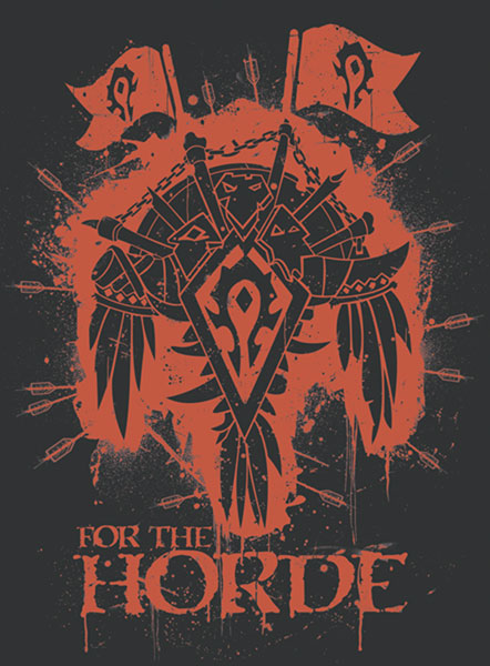Image: World of Warcraft Horde Crest Black T-Shirt  (L) -