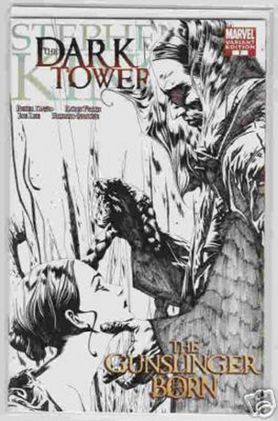 Image: Dark Tower: Gunslinger Born #7 (B&W variant cover) - Marvel Comics