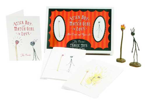 Image: Tim Burton: Stick Boy & Matchstick Girl Note Cards & Figures Boxed Set  -