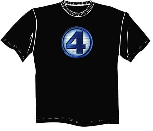 Image: Fantastic Four Renderstress Symbol T-Shirt  (L) - Marvel Comics