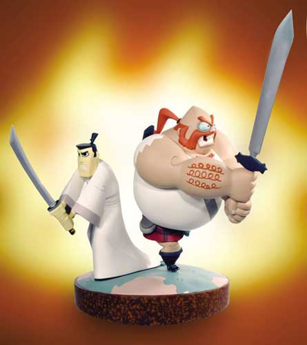 Image: Samurai Jack and Scotsman Statue  -