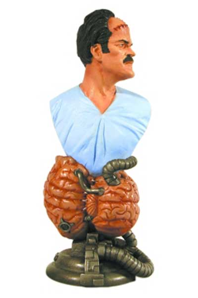 Image: Man with the Screaming Brain Bust  -