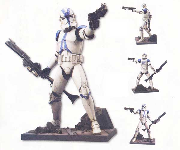 Image: Star Wars: Clone Trooper #2 Kotobukiya Vinyl Model Kit  - Dark Horse Comics