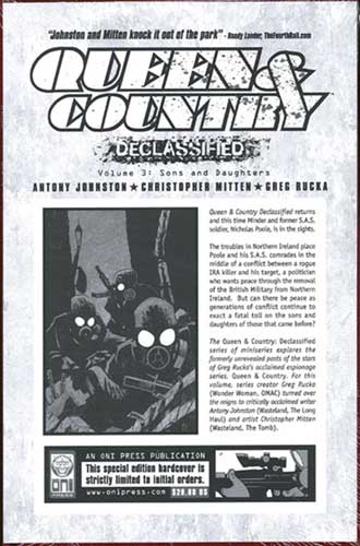 Image: Queen & Country Declassified Vol. 3 HC  - Oni Press Inc.