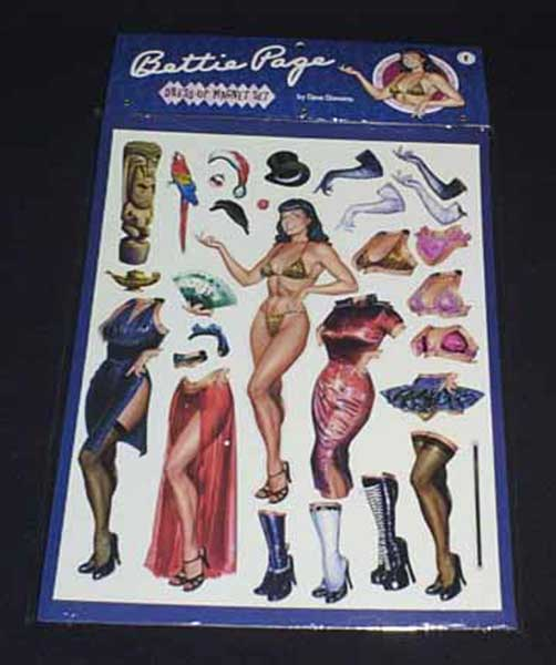Image: Bettie Page Dress-Up Magnet Set  -