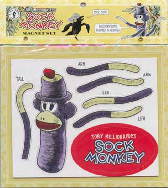 Image: Sock Monkey Magnet Set  -
