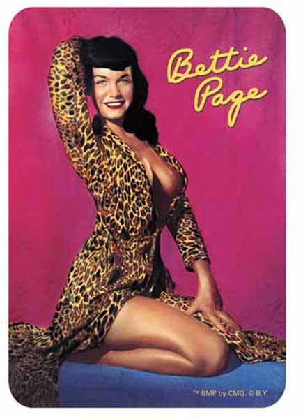 Image: Bettie Page Sticker #5: Leopard  -