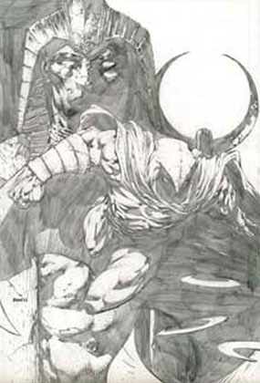 Image: Moon Knight #1 (Sketch Variant cover) - Marvel Comics