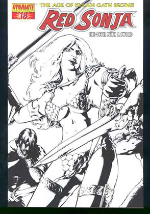 Image: Red Sonja #18 (Sketch cover) - D. E./Dynamite Entertainment