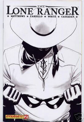 Image: Lone Ranger #2 (Black & White Alternative incentive cover) - D. E./Dynamite Entertainment