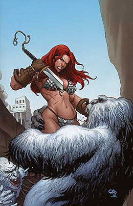 Image: Savage Red Sonja: Queen of the Frozen Wastes #3 (Cho Virgin cover) - D. E./Dynamite Entertainment