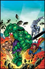 classic Defenders; Doc, Hulk, Namor and Surfer