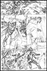 Alan Davis' pencil art, Avengers #38