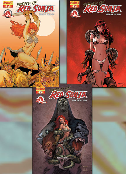 Image: Sword of Red Sonja: Doom of the Gods #2 (Cover B) - D. E./Dynamite Entertainment
