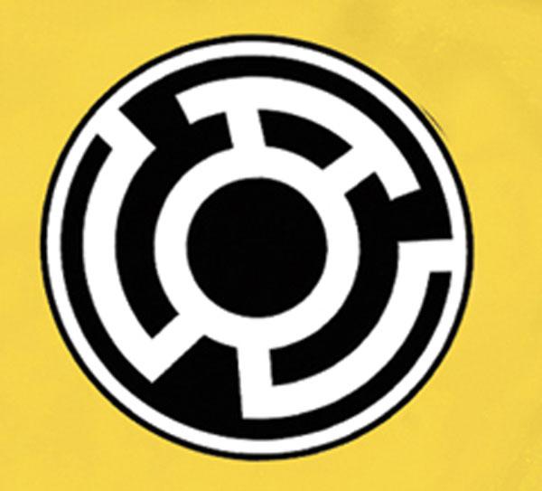 Sinestro Corps Symbol Gold T Shirt L Westfield Comics Comic