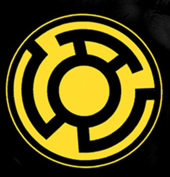 Sinestro Corps Symbol Black T Shirt L Westfield Comics Comic
