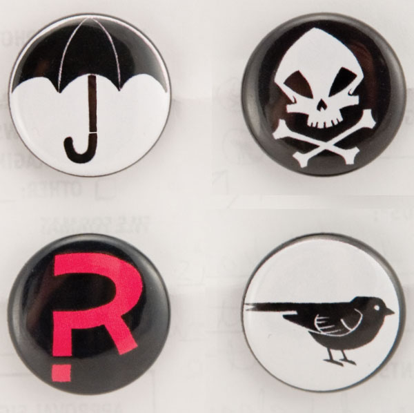 Image: Umbrella Academy Button Pack  -