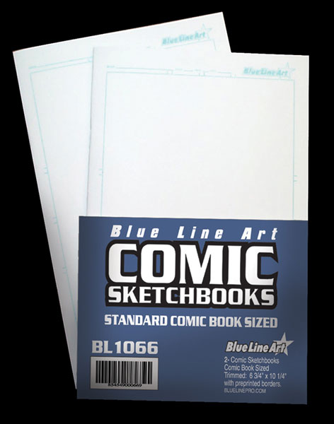 Image: Blue Line Comic Sketchbook - Traditional Sized  -