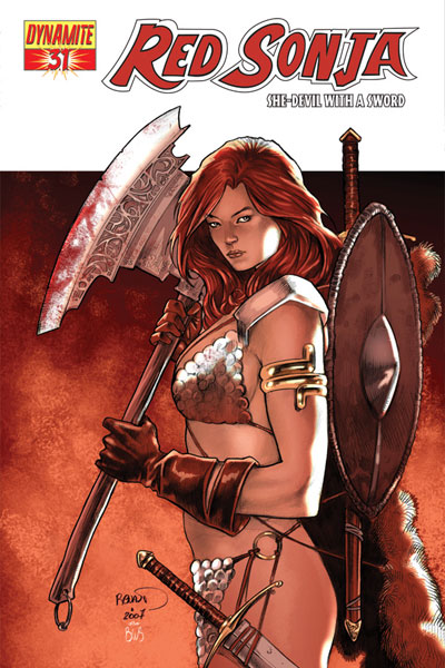 Image: Red Sonja #31 (Paul Renaud Cover) - D. E./Dynamite Entertainment