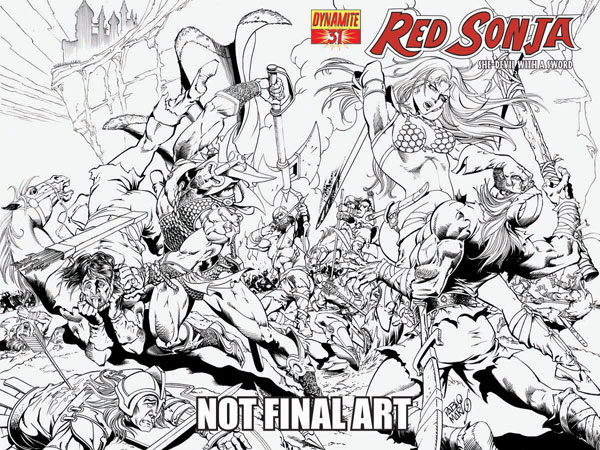 Image: Red Sonja #31 (Pablo Marcos Cover) - D. E./Dynamite Entertainment