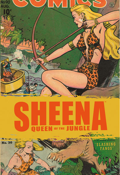 Image: Golden Age Sheena Vol. 01: The Best of Queen of the Jungle SC  - Devil's Due Publishing Inc