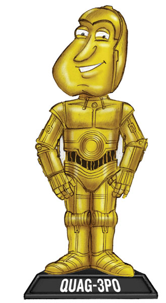 Image: Family Guy Blue Harvest Wacky Wobbler Bobble-ead: Quag-3PO  -