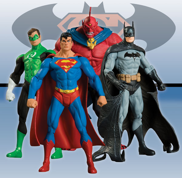 Image: Superman / Batman Series 6 Action Figure Set  (4) -