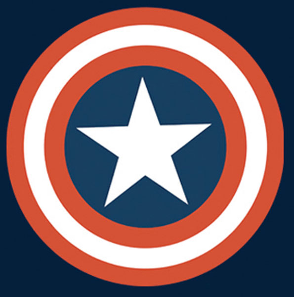 Image: Captain America T-Shirt: Symbol Youth Navy  (M) -
