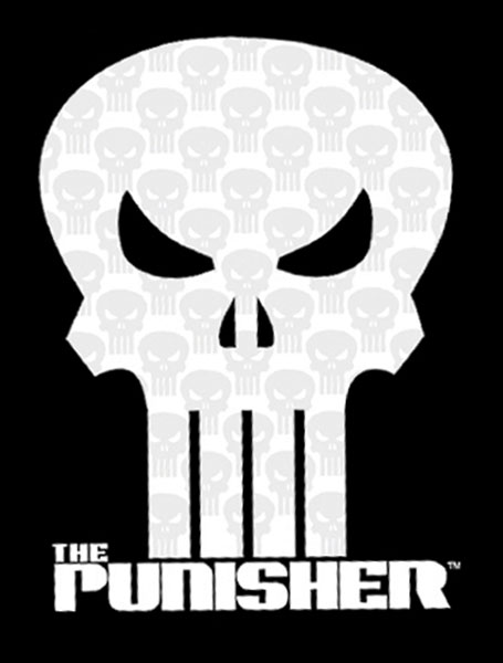 Image: Punisher T-Shirt: 'Crystalized' Logo Youth Black  (XL) -