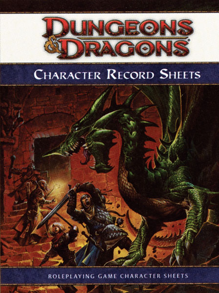 Image: D&D Character Record Sheets  - Wizards of the Coast