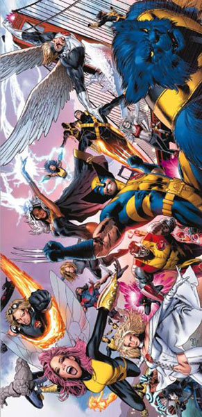 Image: Uncanny X-Men Greg Land Panorama Poster  - Marvel Comics