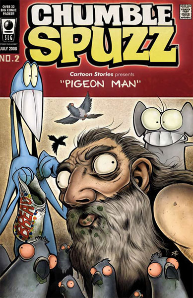 Image: Chumble Spuzz Vol. 02: Pigeon Man & Death Sings the Blues SC  - Amaze Ink/Slave Labor Graphics