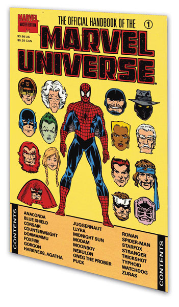 Image: Essential Official Handbook of the Marvel Universe Master Ed. Vol. 03 SC  - Marvel Comics
