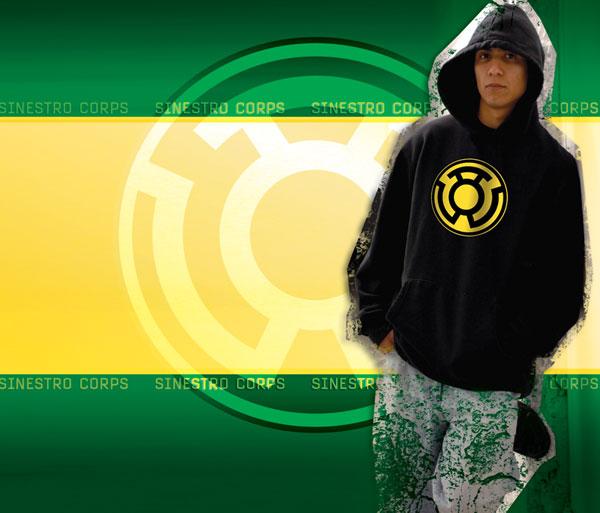 Sinestro Corps Symbol Black Hoodie M Westfield Comics Comic