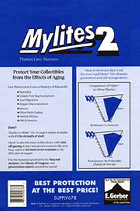Image: Mylites2 Sleeves: Super Gold Size  (8-1/4x10-3/4) (50) -