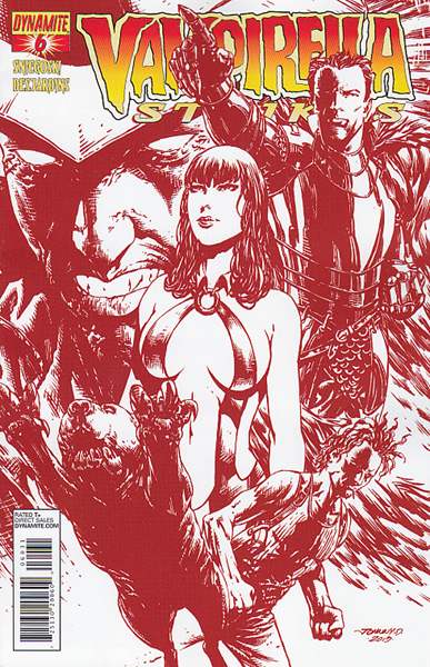 Image: Vampirella Strikes #6 (10-copy Johnny D red incentive cover) - Dynamite