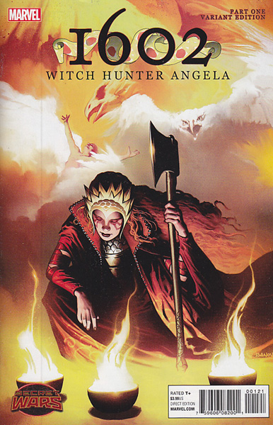 Image: 1602: Witch Hunter Angela #1 (variant cover - Isanove) - Marvel Comics