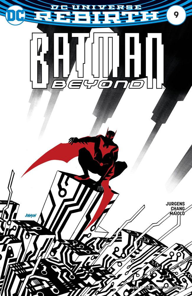 Image: Batman Beyond [2017] #9 (variant cover - Dave Johnson)  [2017] - DC Comics