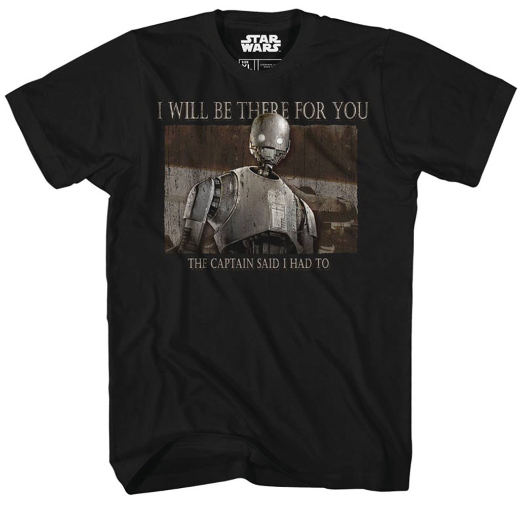 Image: Star Wars T-Shirt: Rogue One - There for You [Black]  (M) - Mad Engine