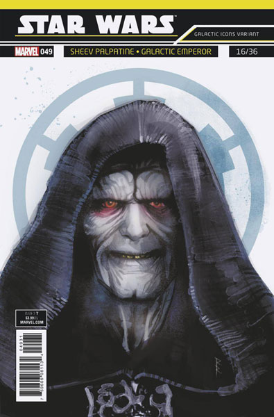 Image: Star Wars #49 (variant Galactic Icon cover - Reis)  [2018] - Marvel Comics