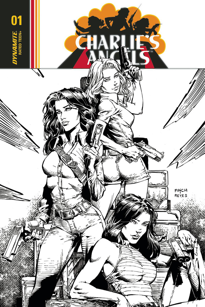 Image: Charlie's Angels #1 (cover F incentive - Eisma B&W) (30-copy)  [2018] - Dynamite