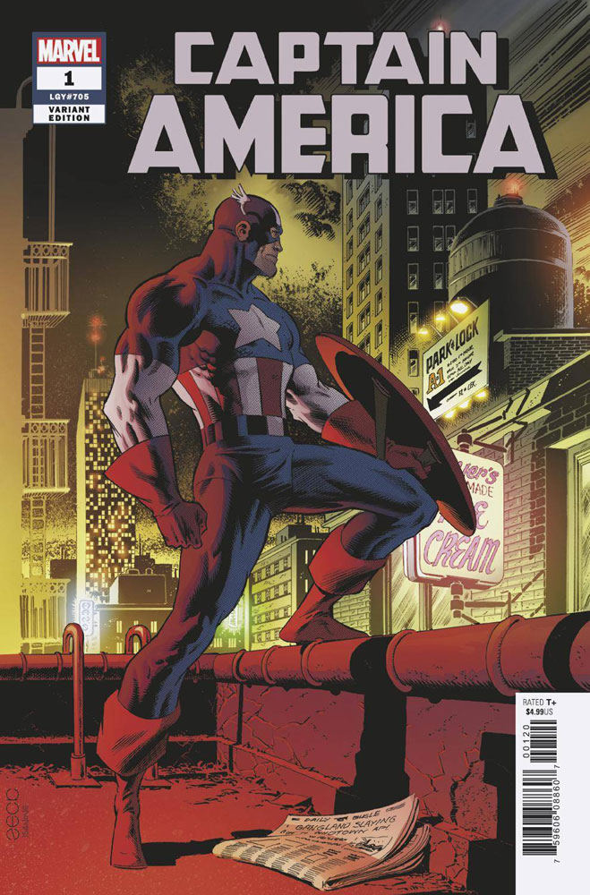 Image: Captain America #1 (variant cover - Mike Zeck)  [2018] - Marvel Comics