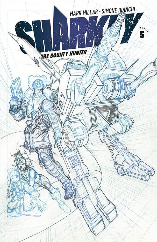 Image: Sharkey the Bounty Hunter #5 (cover B - Bianchi sketch) - Image Comics