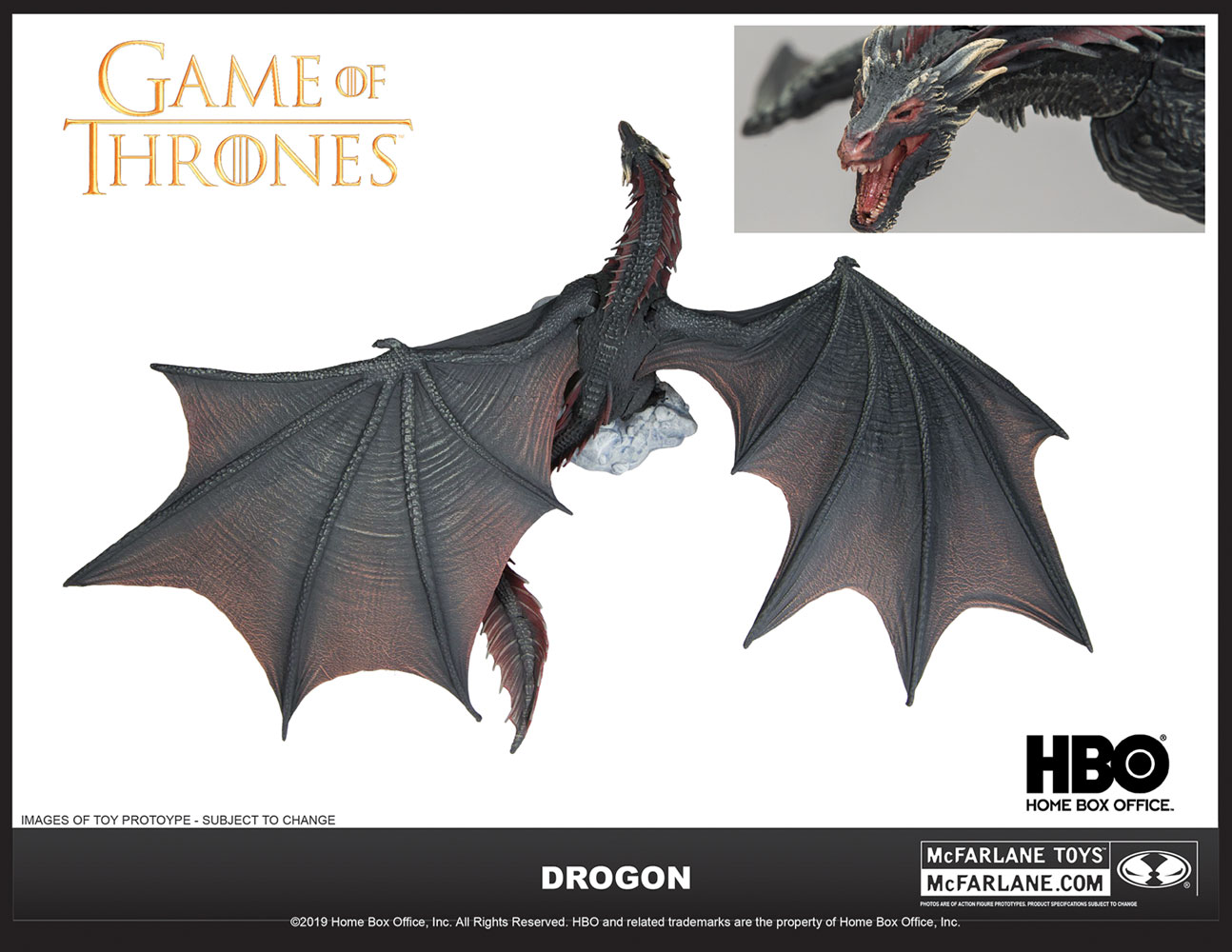 Game of Thrones Drogon Deluxe Action Figure Case  - TMP Toys / McFarlane Toys