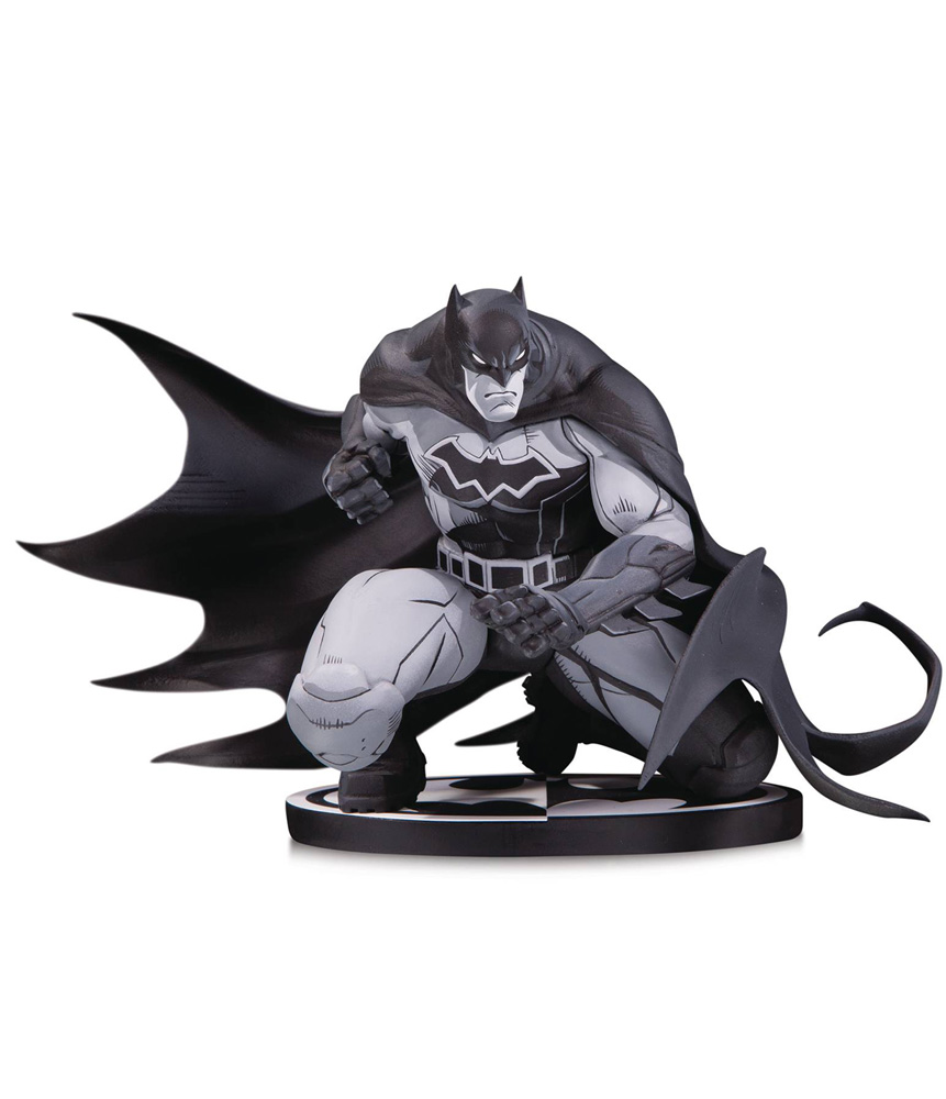 Image: Batman Black & White Statue: Batman by Joe Madureira  - DC Comics