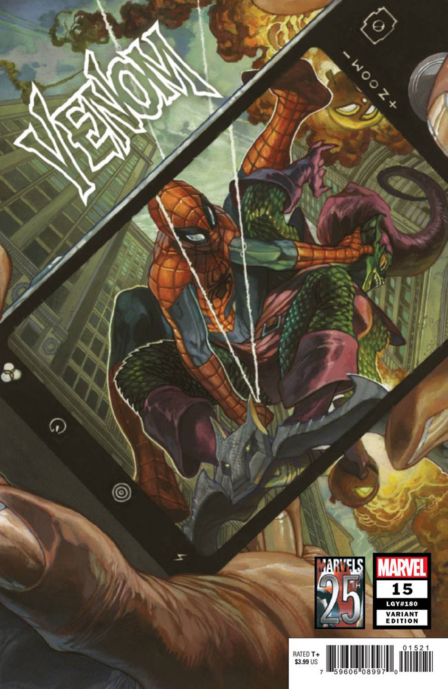 Image: Venom #15 (variant Marvels 25th Tribute cover - Bianchi) - Marvel Comics